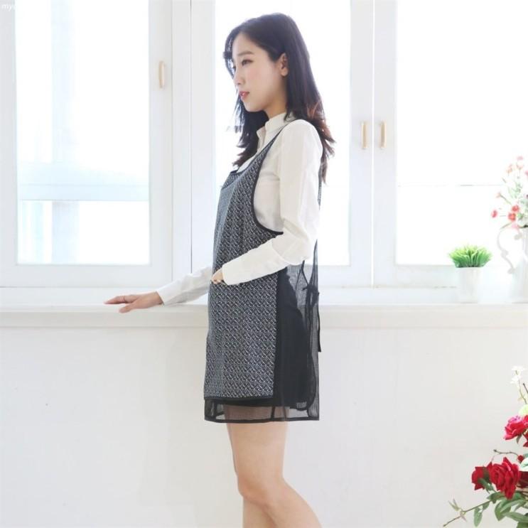 [할인상품] 클리티아 꽃무늬 메쉬 방수 앞치마 9,900 원! ~*