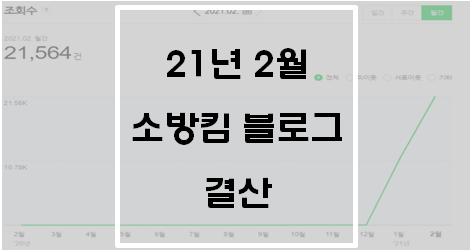 21년 2월 소방킴 블로그 결산