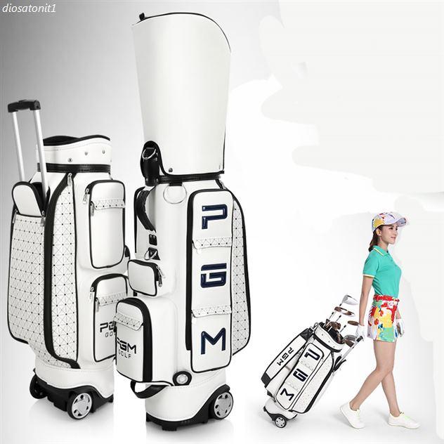 오늘자 PGM 여성 바퀴달린 캐디백 골프백 만져본 후기