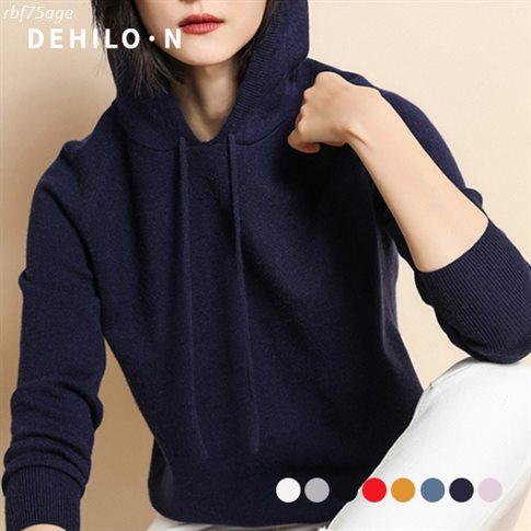 [할인추천] 데일로엔 여성용 루즈핏 얇은 니트 후드 티셔츠 20,900 원~ 47% 할인❤