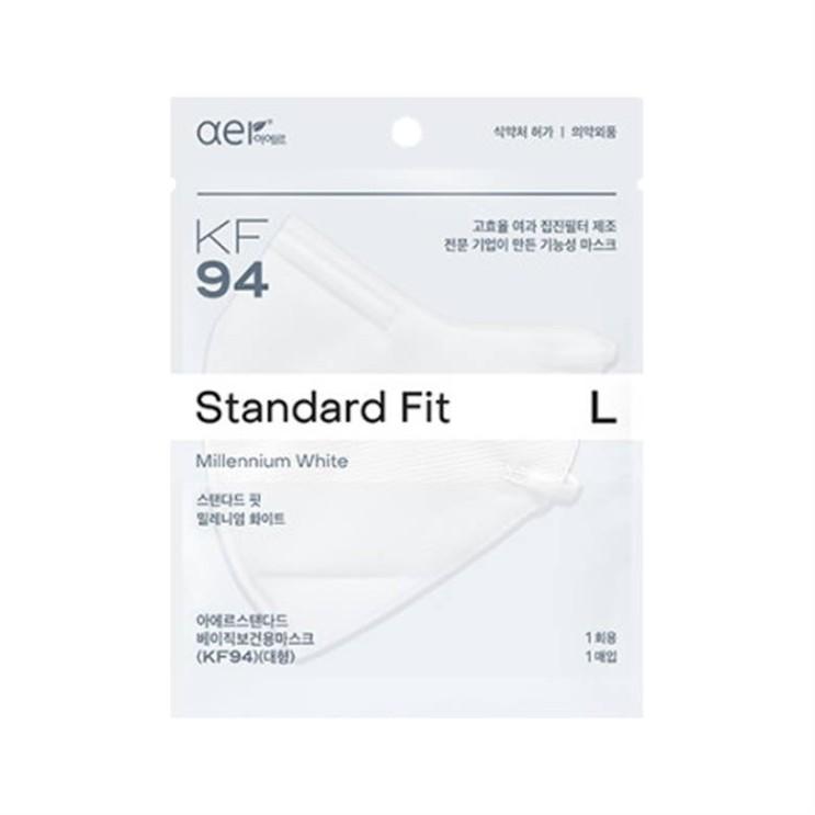 [특가제품] 아에르 스탠다드 핏 KF94 마스크 대형 10매 10,500 원✿ ♡