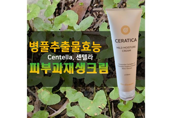병풀추출물효능(CENTELLA, 센텔라) 호랑이도 아는 피부과재생크림
