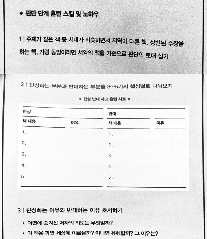 초서독서법) 3단계. 판단단계(사고,생각단계)