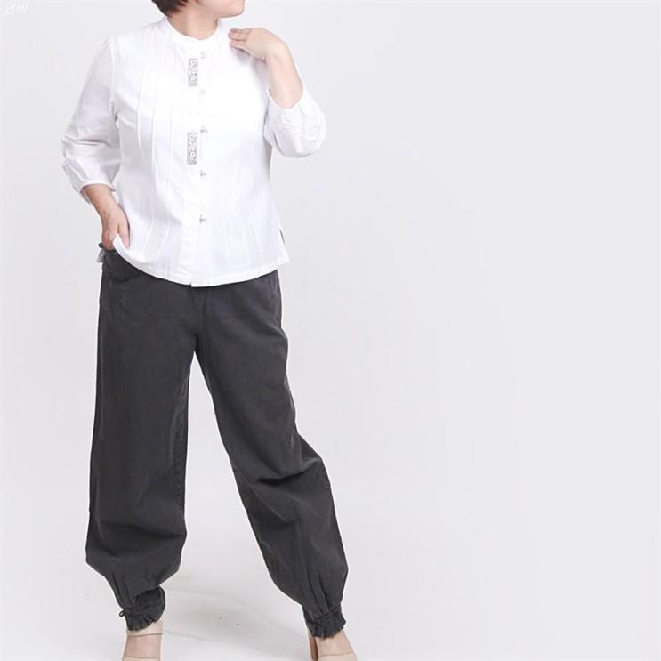 [할인추천] 매듭우리옷 여성용 면30수 신핀탁7부저고리 바지 생활한복 개량한복 MF205 49,900 원♪♩ ♡