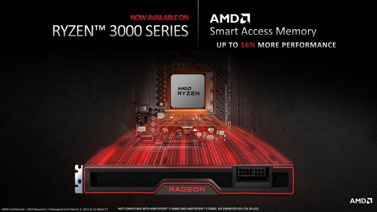 AMD 라이젠 3000시리즈 CPU 스마트 액세스 메모리 지원