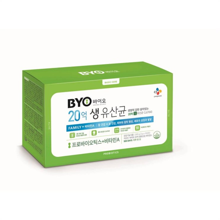 [특가상품] BYO 20억 생유산균 패밀리 비타민A 25,900 원☆ ♪