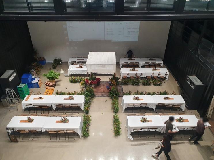 [행사렌탈] 실내 스몰웨딩용품 의자 테이블대여