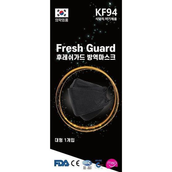 금주 신상정보 100%국산 블랙 KF94 마스크 대형 100매 개별포장 장당 379원 합리적인 선택!