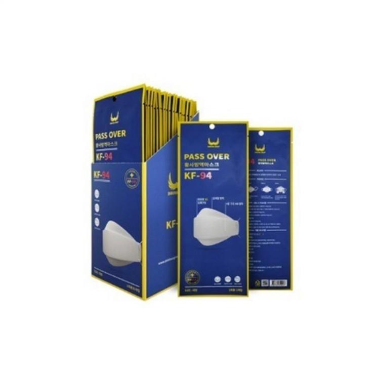 쇼핑 인기아이템 KF94 마스크 100%국산자재 국내생산 패스오버 마스크 KF94 미세먼지 50매 장당 438원 말이 되나?~