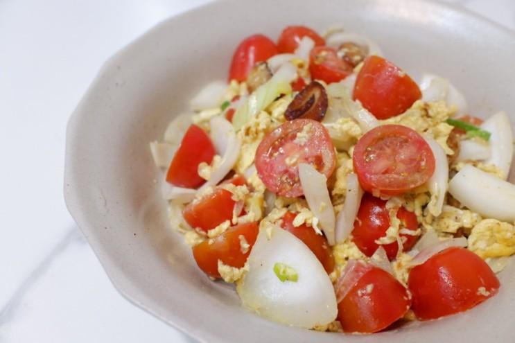 🦩 [다이어트 레시피] 간편하게 맛있게 살빼기, 토마토 달걀 볶음 (토달볶)