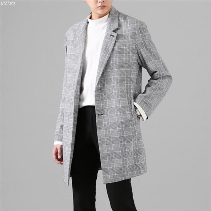 [할인상품] 단군 남성 싱글 버튼 하운드 체크 코트 39,900 원❤ 7% 할인☆