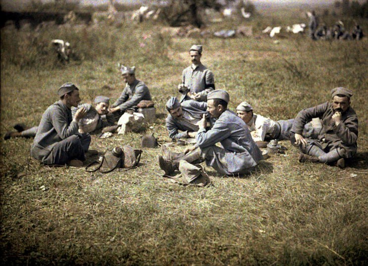 1차 세계대전 프랑스군 병사들의 식사