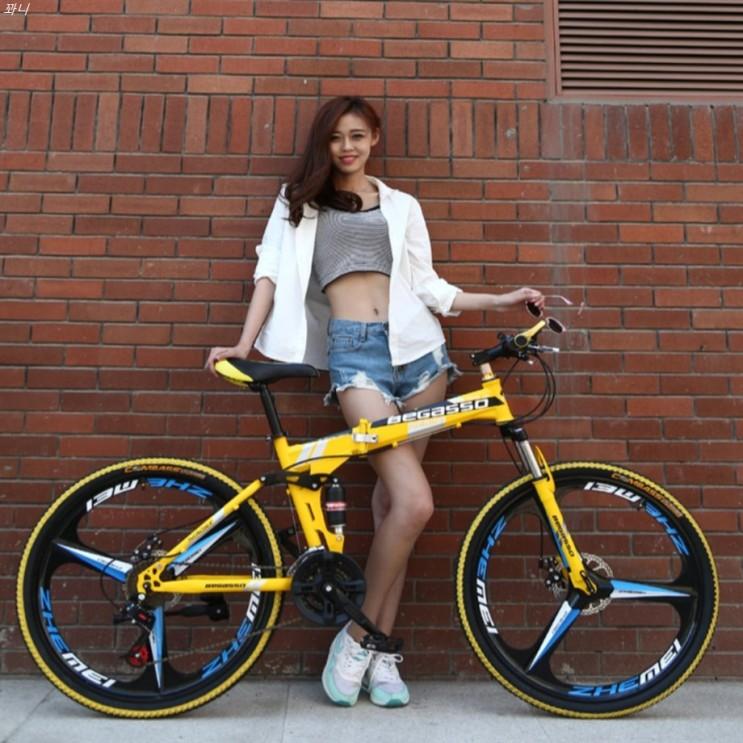 [특가제품] BeGasso 26 인치 접이식 자전거 가변 속도 충격 흡수 오일 디스크 브레이크 산악용 224,500 원~! 39% 할인☆