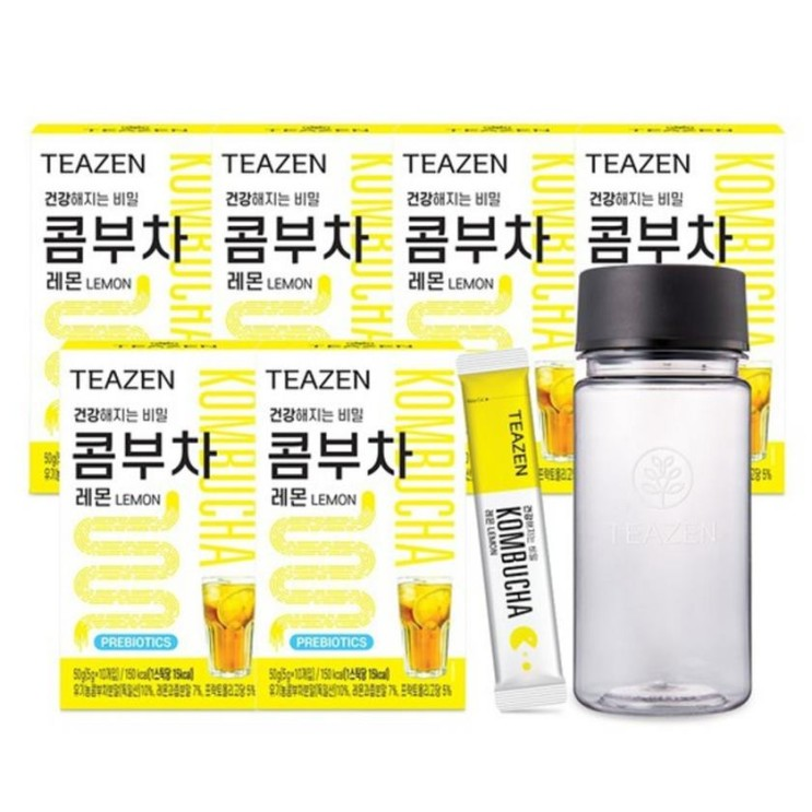 [할인정보] MLC 티젠 콤부차 레몬 6박스/보틀 증정 35,900 원♪♩ ☆