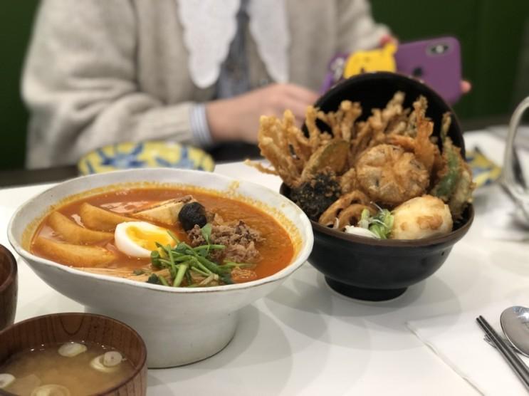 영등포 타임스퀘어 맛집_온기정 (텐동+스키야끼 맛쪼아)