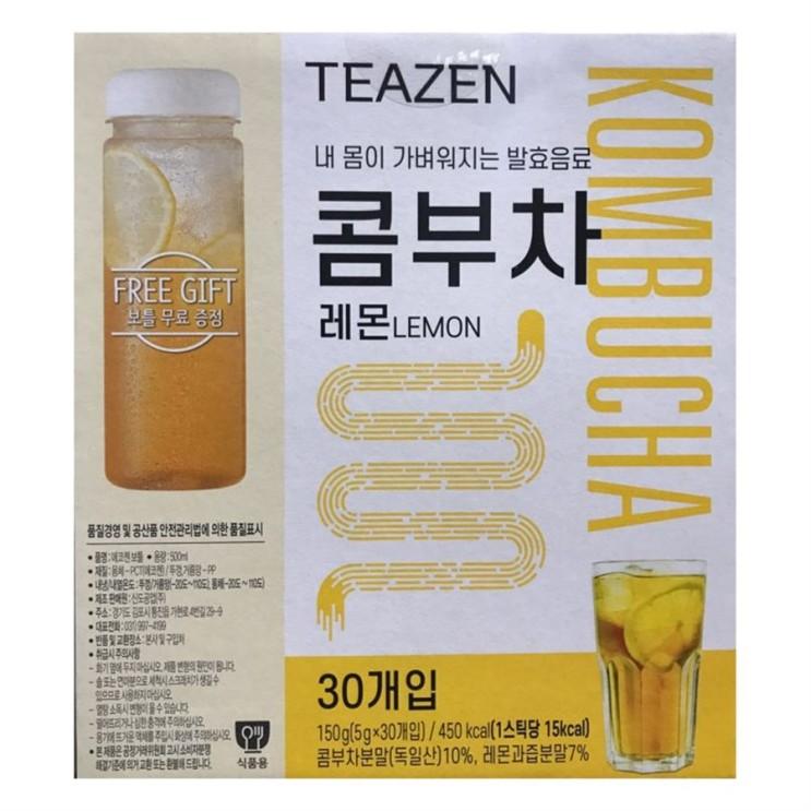 [대박할인] 티젠 레몬콤부차5gX30개입 냉온보틀 17,400 원! ♩