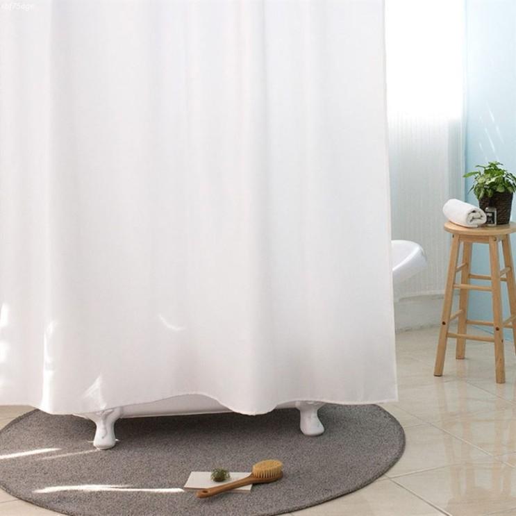 [추천특가] 원세븐나인 솔리드 베이직 샤워커튼 화이트 1800 x 1800 mm 19,230 원♪ 49% 할인♫