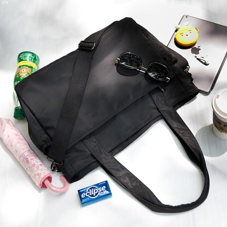 [특가상품] 끄레앙 여성용 빅사이즈 방수 가벼운 심플 숄더백 에코백 쇼퍼백 크로스백 19,900 원✿ 31% 할인♪♩