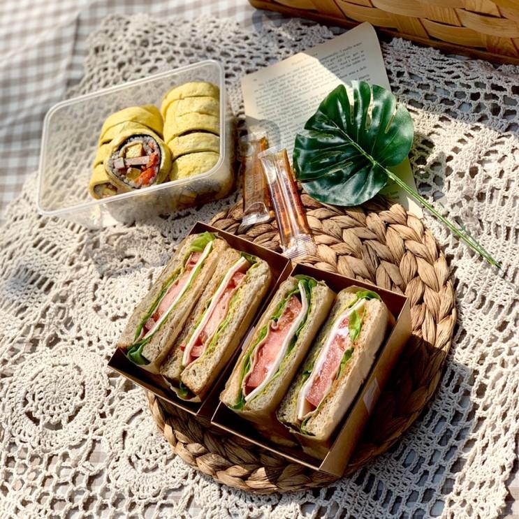 봄날의 피크닉, 피크닉 도시락과 샌드위치 만드는 일상
