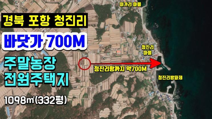 포항부동산 포항토지매매 주말농장 전원주택지 청진리 바닷가 700M-착한부동산