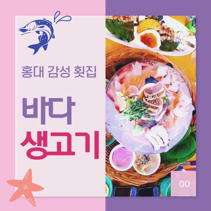 [홍대맛집] 홍대바다생고기 감성횟집 후기. 또 가고싶다..