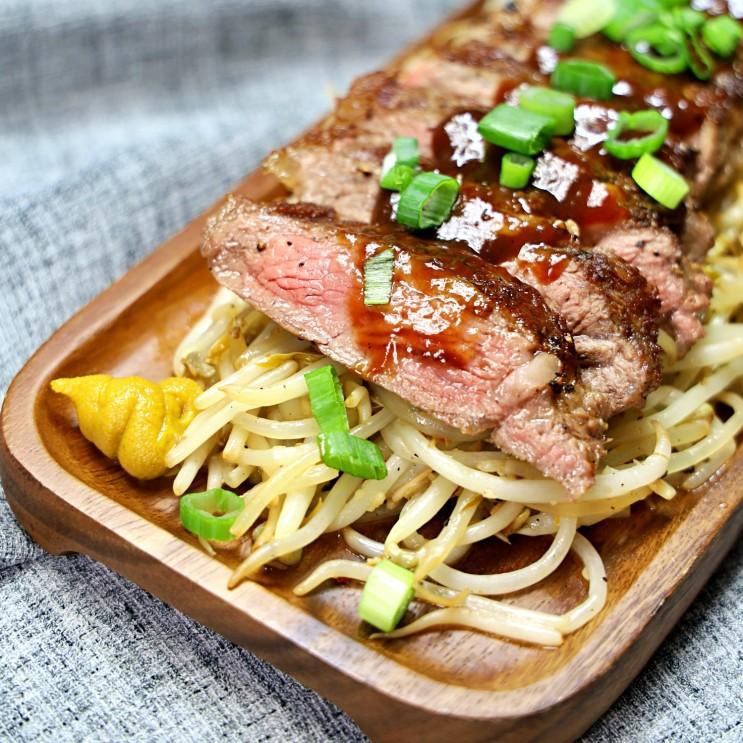 [스테이크 맛있게 굽는법]소고기 등심 스테이크 굽기 & 스테이크 시즈닝