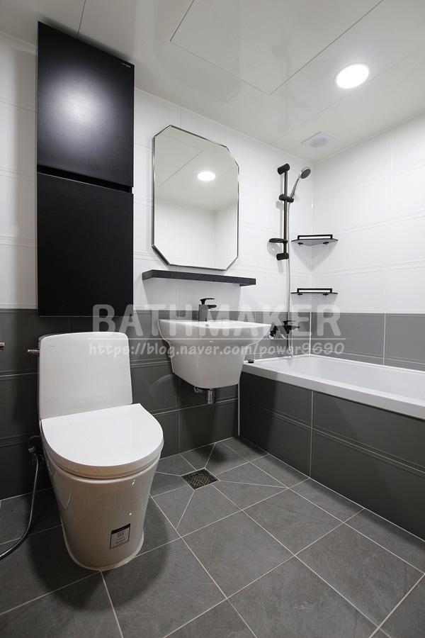 옥정신도시 세창아파트.  키큰장을 설치한 세창리베하우스 욕실인테리어