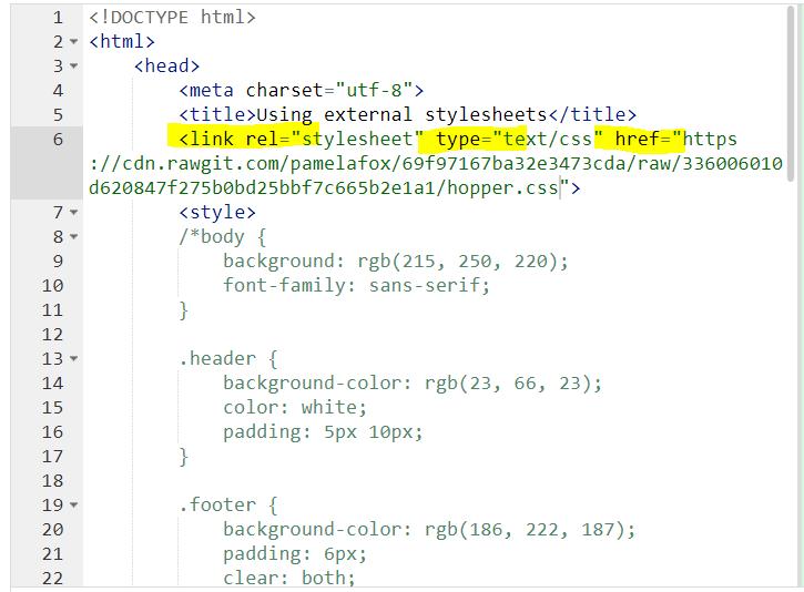 CSS 외부 스타일 시트 사용하기 (External Style sheet)+HTML 유효성 검사