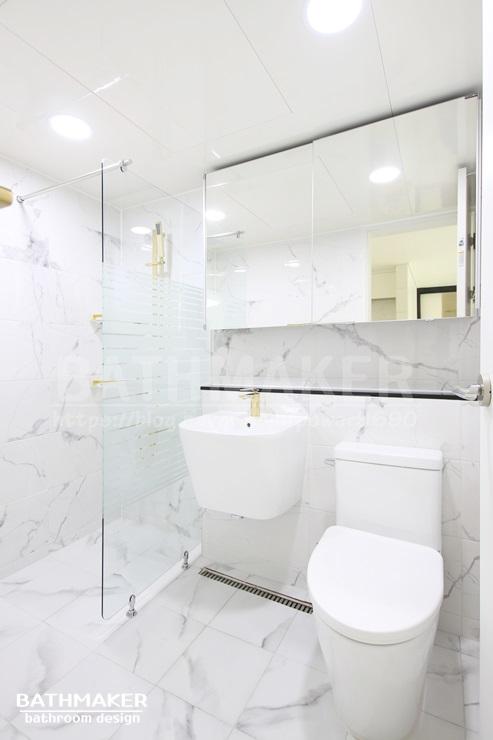 바스메이커 인기있는 벽타일로 꾸민 화장실 모음 BEST 5 디자인 모아보기