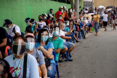 필리핀 코로나 확진자 하루 최고 발생 (8,773명)
