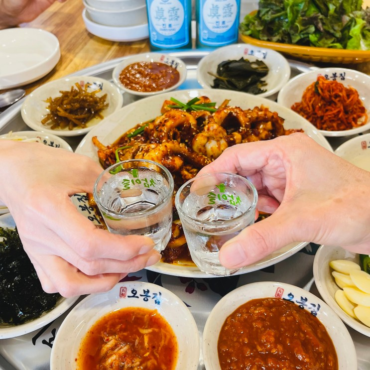 산본역 맛집 - 군포시에서 점심 먹방! 가성비 한식으로 유명하다는 밥집 <오봉집> 낙지보쌈에 반했어요