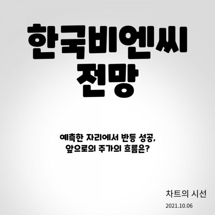 한국비엔씨 주가 전망 (반등 지점 분석 성공, 앞으로의 흐름은? / 2021.10.06 )
